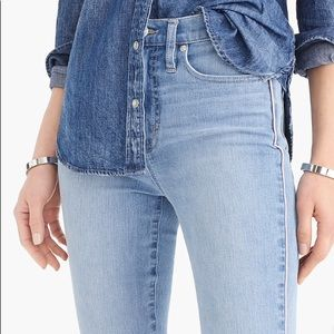 NWT J. CREW highest-rise jean w/ pink side piping